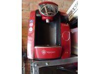 Tassimo red coffee machine