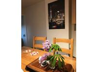 Hand made solid oak dinning table and chairs