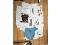 143 NEW T SHIRTS AND POLO SHIRTS VARIOUS DESIGNS