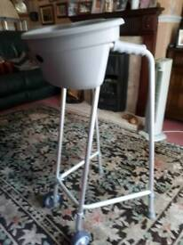 Zimmer walking frame. Comes complete with The Buckingham caddy