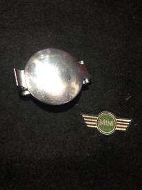Classic Mini chrome petrol cap.