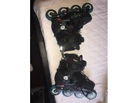 Size 5 inline twister skates good condition