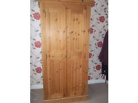 Solid pine bedroom furniture, 2 wardrobes, chest of drawers and 2 bedside cabinets