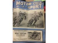 Box full of old motorcycle sport programs dateing bk to 1939 1949 ect ect right up to the 60s