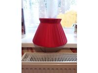 Red Pleated Lampshade