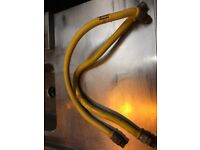 Two Dormont flexi catering hose with regulator