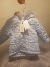 Brand new designer baby coat up to 18months