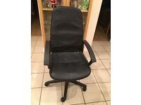 Black Leather Executive Office Chair