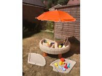 Little Tikes Builders Bay Sand and Water Table with umbrella
