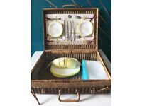 Vintage Picnic Basket Perfect for Sunny Days!