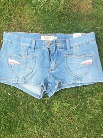 Pepe jeans denim hot pants