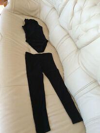 Girl's ballet leotard and matching leggings
