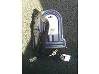 """heavy duty chain lock with d lock and 64"""" chain lock"""