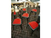 6 Tolix-style vintage chairs