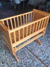 Wood Seville slider baby cot