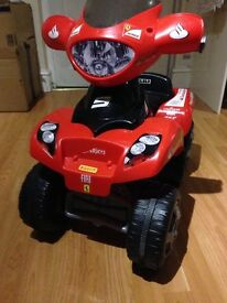 Children's Ferrari ride on quad 6v - age from 1 year and above