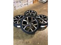 """Brand new set of 18"""" alloy wheels and tyres Vw"""