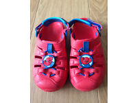Marvel Spiderman sports sandals and all-terrain sandals size 11