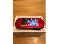 64gb red PSP slim console 15,000 games