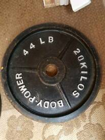 20kg x2 Olympic weight plates
