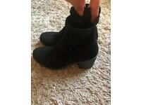 Miss selfridge black ankle boots