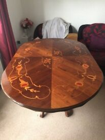 glossy top dining table