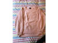 h&m, pink fluffy jumper, Large size,