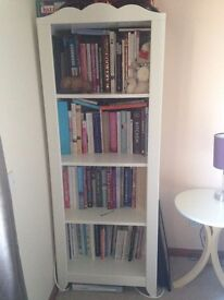 White Painted Bookcase Display Unit