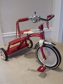 "Retro Kids' Tricycle ""Radio Flyer"" - AS NEW"
