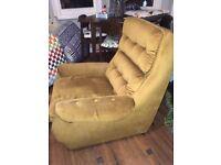 Golden/Mustard Vintage Armchair