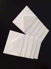 10 / 50 / 100 Small Mini White Envelopes - Size C7 82mm x 113mm - for Wedding Invites, RSVP's etc