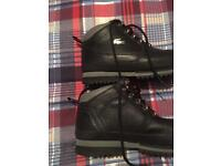 lacoste boots and adidas high tops as new trainers boxed both for 60.00 pound bargain
