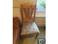 3 x Matching Solid Wood Dining Chairs Good Condition
