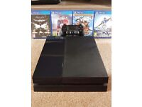 PS4 with all wires/controller/5 games