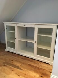 White and glass sideboard
