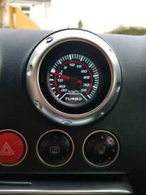 Audi TT air vent boost gauge
