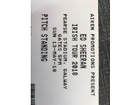 Ed sheeran galway tickets 13th may pitch standing x2