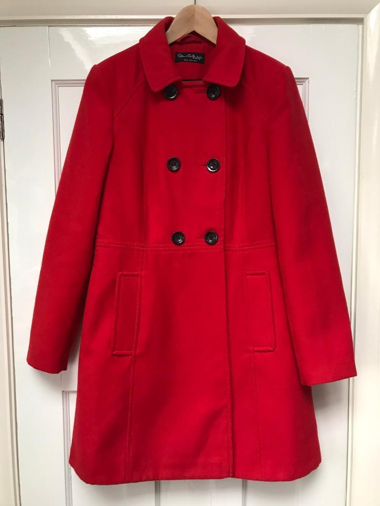 Ladies Red Winter Coat