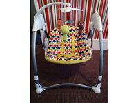 changing mat, baby swing, baby bouncer and baby pram extension bed