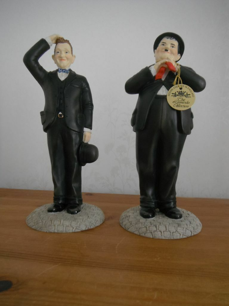 Leonardo Laurel And Hardy Figurines In Shoreham By Sea