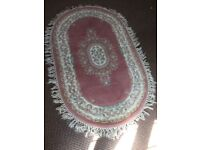 Thick cut floral large oval rug