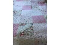Quilted patchwork double throw/ bedspread as new