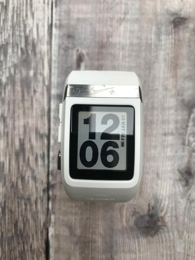 Nike + TomTom GPS sports running watch in white  b194c534690