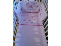 Baby girl cot or cotbed bedding set mothercare collect ml5