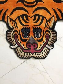 Tibetan Tiger Silk Rug, 70x140cm