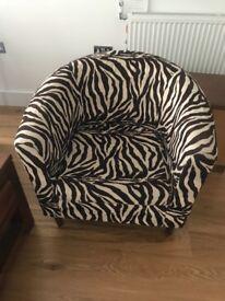 Zebra Arm/Tub Chair