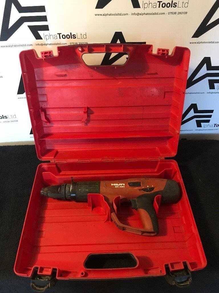 HILTI DX460 ACCURATED SHOT BLASTER, NAIL GUN