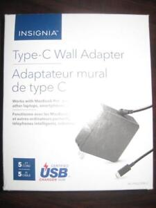 Insignia 90W USB C (Thunderbolt) Wall Charger / Fast Charger for MacBook Pro / Ultrabook / Chromebook / Tablet / Phone