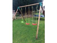 Kids little tikes garden swing set