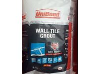 Unibond tile adhesive 20kg and ice white grout 2.5kg